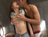 Yuu Konishi fucked with a huge dildo and cock!