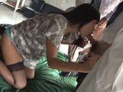 Teen in hot stockings Nana Ogura loves to suck
