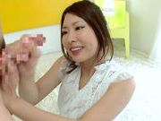 Fetish and cock craving babe Kyoko Maeda playing with her glass dildo and sucking.asian anal, japanese pussy}