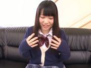 Rino Yoshihara sultry Asian teen attends to a porn casting