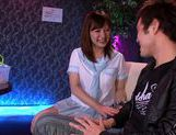 Young Japanese school girl is having sex and giving blow job
