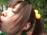 Naughty Japanese AV Model is a horny teen doing some facesitting picture 12