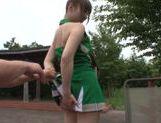 Naughty Japanese AV Model is a horny teen doing some facesitting