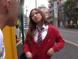 Japanese AV Model is a nice horny teen in a school uniform picture 1