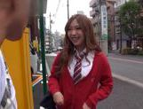 Japanese AV Model is a nice horny teen in a school uniform picture 2
