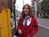 Japanese AV Model is a nice horny teen in a school uniform picture 3