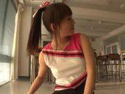 Japanese AV Model is a sexy teen cheerleader