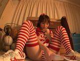 Japanese AV Model is a nice teen in her cheerleader costume
