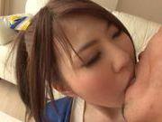 Japanese AV model is a hot cheerleader gets a boob fuck
