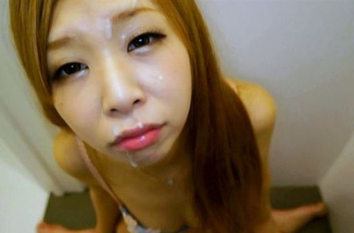 Pretty Asian redhead gets cumload on her beautiful face