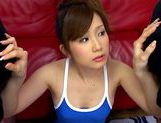 Both hands full of hard cocks for the hot teen Minami Kojima