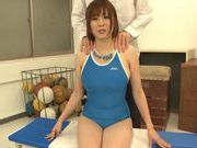Nana Aoyama's big tits and great blowjob gets him off