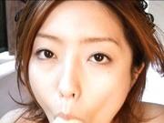 Ai Haneda naked dirty playing with food!