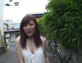 Hot MILF Kimi Hirosue goes outdoors to give a blowjob picture 10