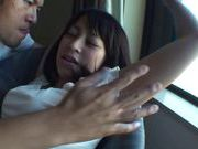 Yuika Seno gives head and is fucked hard through her panties