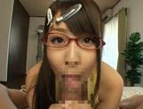 Hitomi Kitagawa fucks in her glasses picture 10