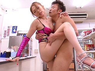 Asami Ogawa fucks for the shop´s camera
