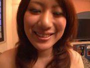 Kanade Maki wrappinga fat dick and slurps its warm jizz