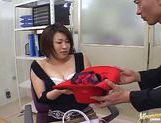 Kokoro Miyauchi Rides A Big Dildo While In Costume