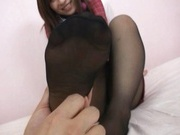 Kaede Himek gets cum all over her ripped pantyhose