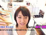Busty teen Himari Wakana pleases horny client picture 1