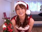 X-mas time special fucking for Akiho Yoshizawa in her santa costume picture 1