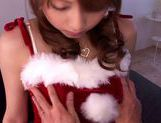 X-mas time special fucking for Akiho Yoshizawa in her santa costume picture 3