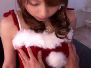 X-mas time special fucking for Akiho Yoshizawa in her santa costume