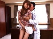 Akiho Yoshizawa pretty Asian model enjoys hot dirty sex