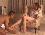 Alice Ozawa Sexy Asian doll gives a footjob picture 7