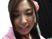 Ayumi Sena Asian model fondles her wet pussy