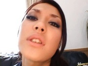 Sexy Maria Ozawa gets her pussy licked and blows a cock.