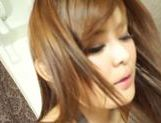 Long-haired Japanese AV model plays with impressive schlong picture 14