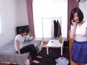 Cute Japanese AV model gets pounded in a doggystyle