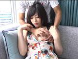 Japanese AV Model is a horny chick in amateur hardcore action picture 13