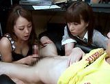 Reia and Anju sucking dick hard!asian schoolgirl, asian anal}