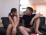 Anna Kisa Asian model gets her holes drilled with a dildo