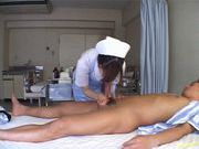Miyu Akimoto Does Her Nurse Duty By Sucking Him Off