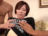Sexy Nade Tomoseka hot milf fucked in threesome picture 6