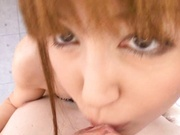 Yui Igawa's A Sticky Mess From A Facial And Creampie