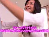 Lovely Nana Ogura wild pussy stimulation and ass licking