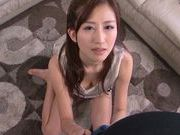 Horny Asian Miki Ishihara loves to suck cock