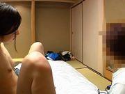 Japanese babe enjoys pussy licking