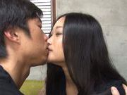 Sex appeal Japanese chick in sexy lingerie adores pussy pounding