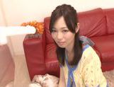 Delicious milf Miki Yoshimura sucks huge rod enjoys facial
