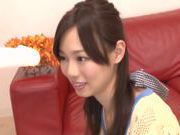 Delicious milf Miki Yoshimura sucks huge rod enjoys facial