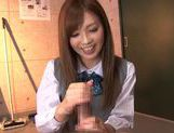 Schoolgirl Rina Kato Spends After School Hours Stroking Dick picture 13
