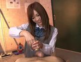 Schoolgirl Rina Kato Spends After School Hours Stroking Dick picture 7