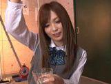 Schoolgirl Rina Kato Spends After School Hours Stroking Dick