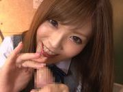 Schoolgirl Rina Kato Spends After School Hours Stroking Dickhorny asian, asian women}
